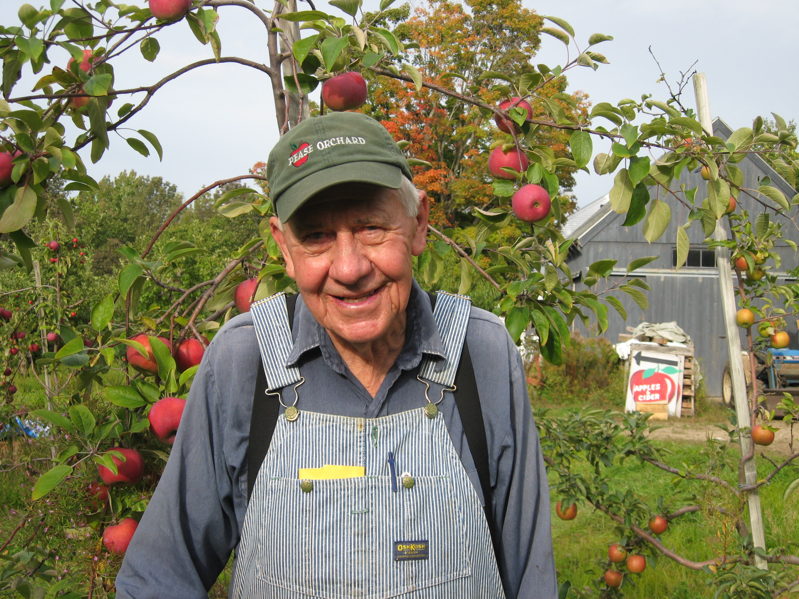 Robert Pease of Pease Orchards, Templeton, MA (Photo: Tim Skoog, WBUR)
