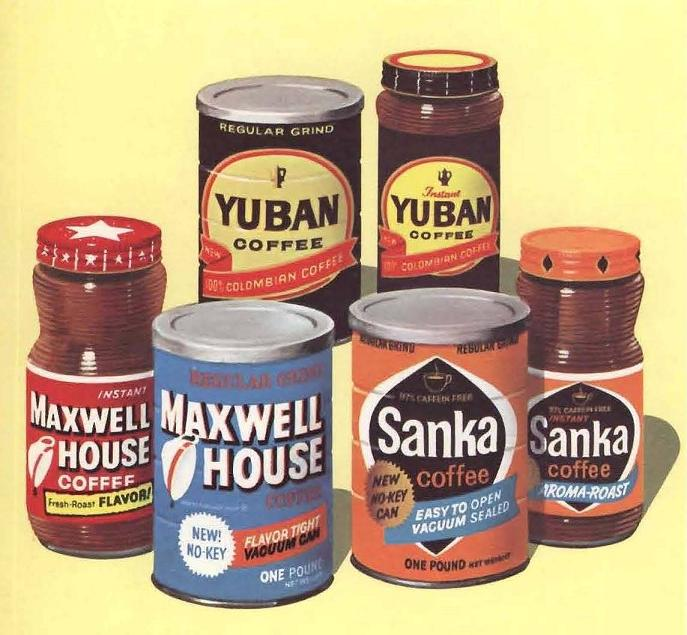 Sanka and some peers in bygone days (Photo: Pleasant Family Shopping/Flickr)